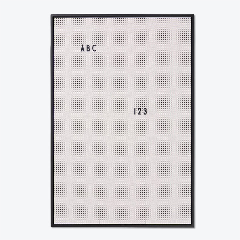 Design Letters Message Board opslagstavle Grå A2