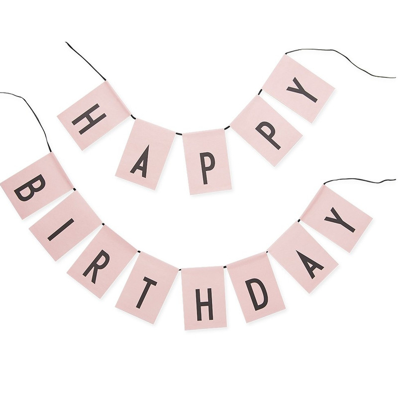 Design Letters Flagranke Happy Birthday Pink