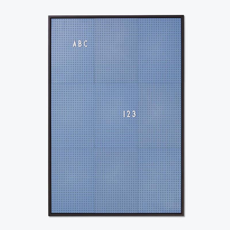Design Letters Message Board opslagstavle Blå A2