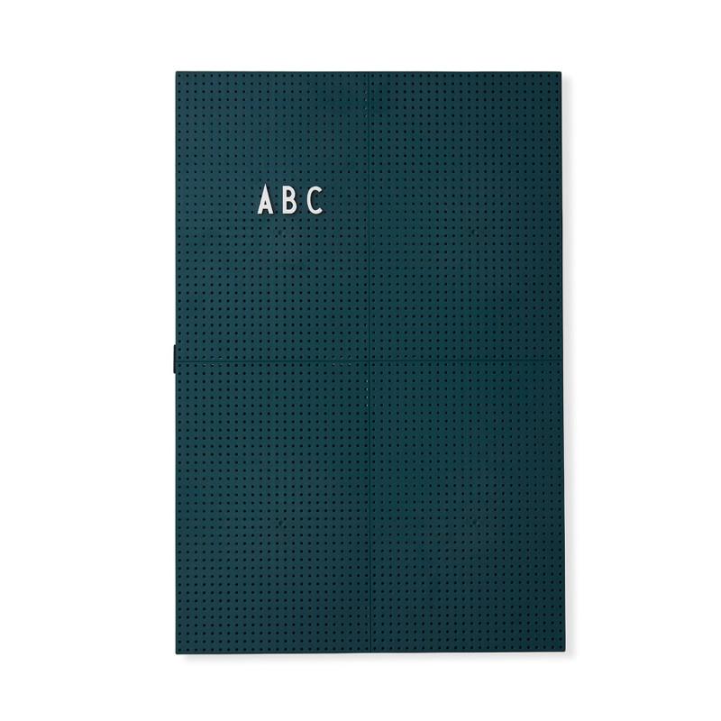 Design Letters Message Board opslagstavle Mørk Grøn A3
