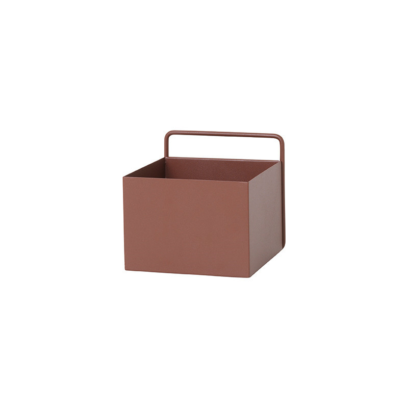 Ferm Living Square Vægkasse Rødbrun