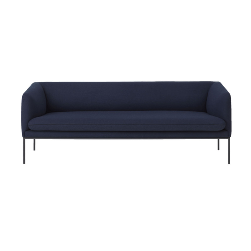 Ferm Living Turn Sofa Wool Solid Blue