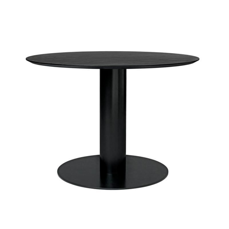 Gubi 2.0 Spisebord  i Sort Laminat Ø110