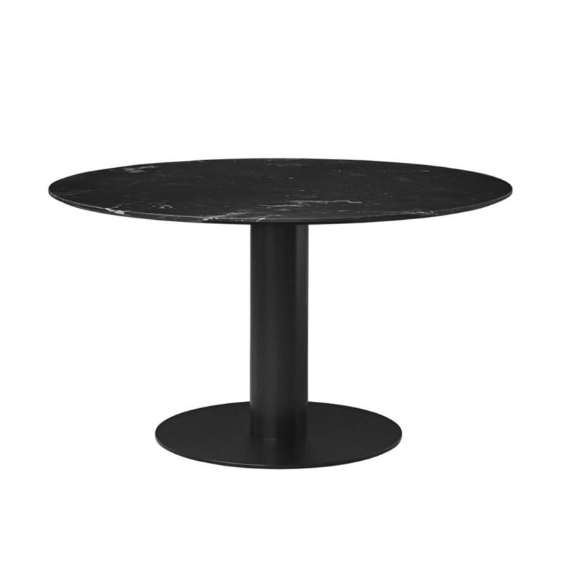Gubi 2.0 Spisebord i Sort Marmor Ø110