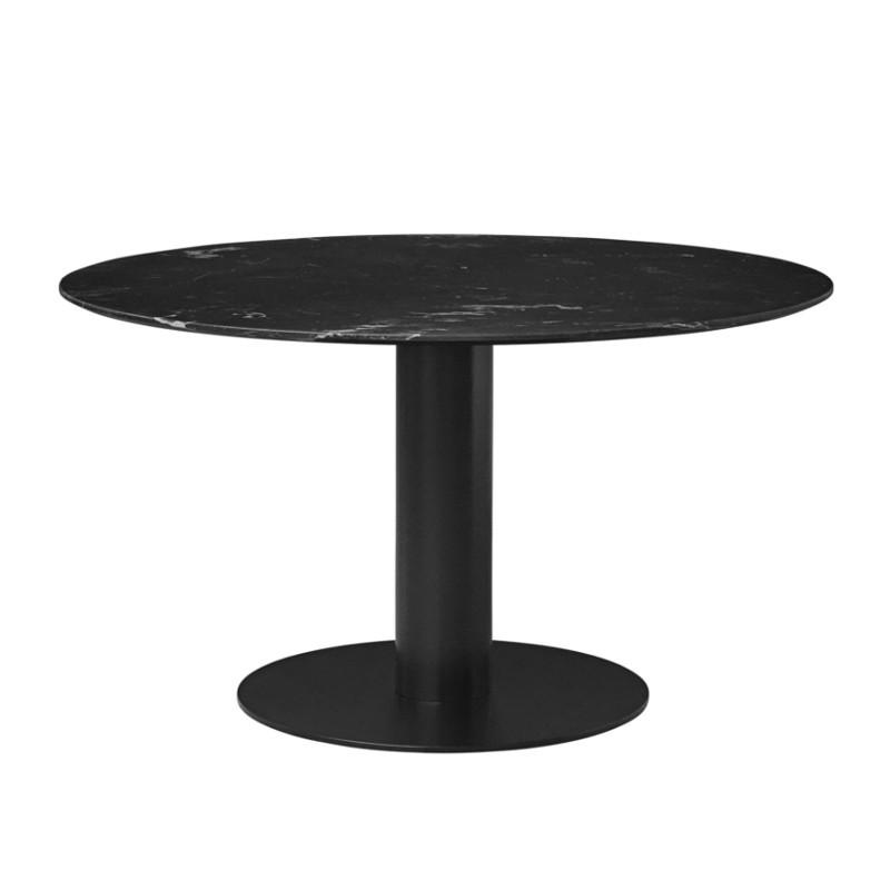 Gubi 2.0 Spisebord i Sort Marmor Ø130