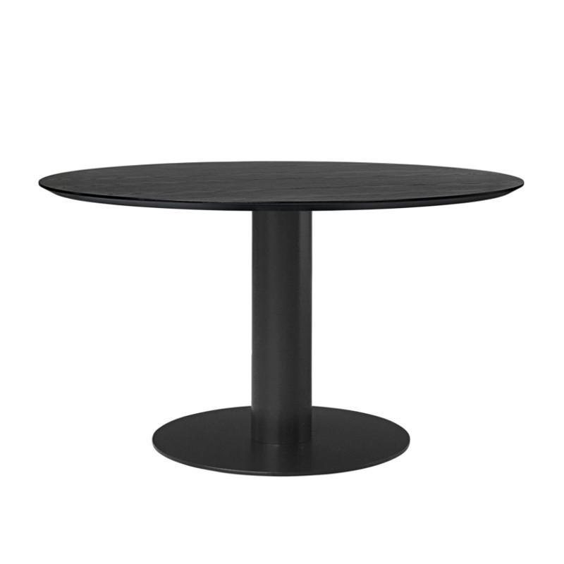 Gubi 2.0 Spisebord i Sort Laminat Ø130