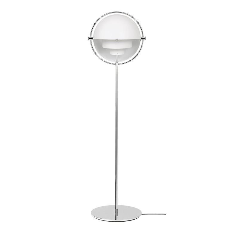 Gubi Gulvlampe Multi-Lite Hvid og krom