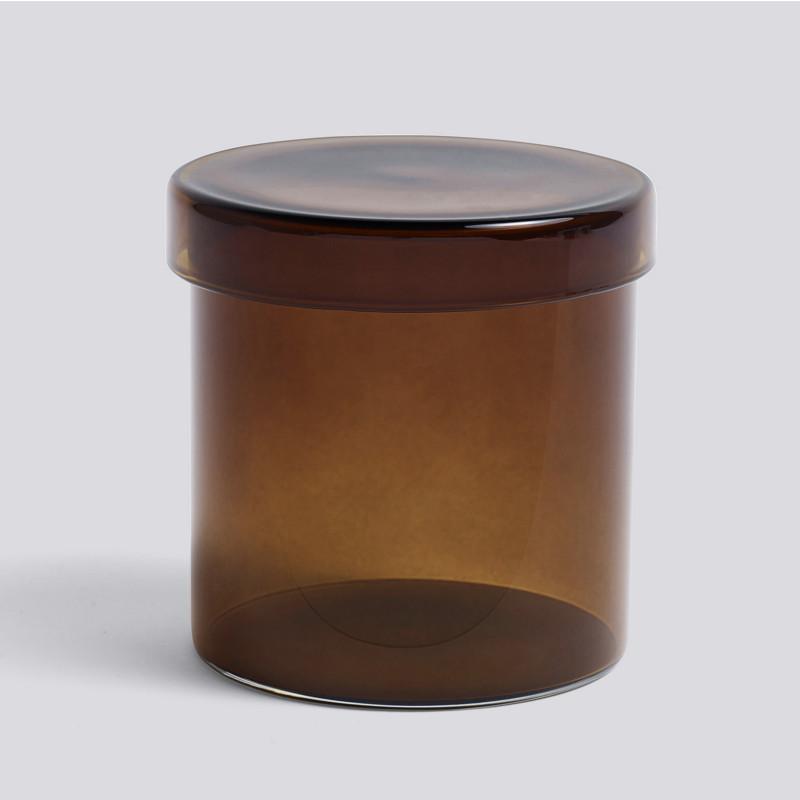 HAY Container Lågkrukke Brun