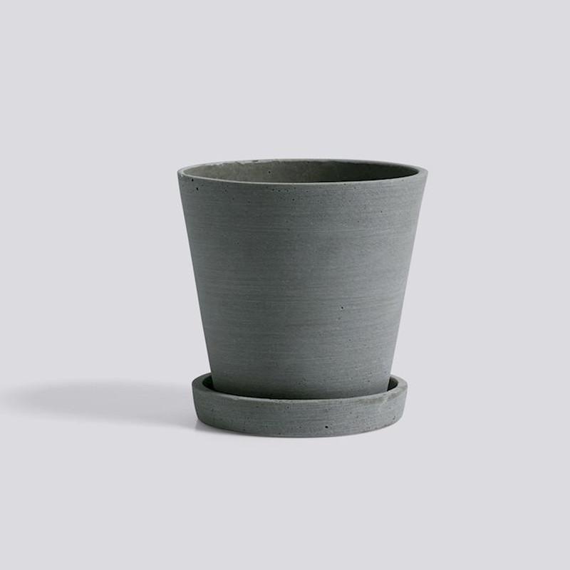 HAY Flowerpot Urtepotte Med Underkop Grøn