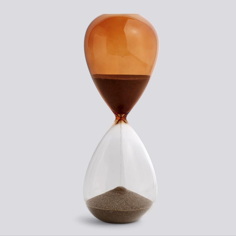 HAY Time Timeglas 30 Minutter Brændt Orange L