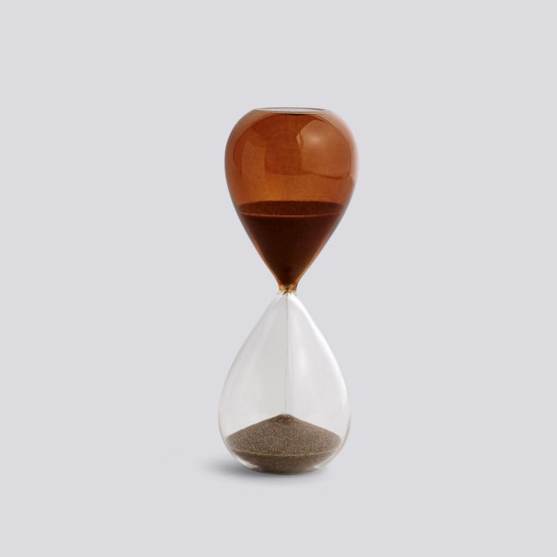 HAY Time Timeglas 15 Minutter Brændt Orange M