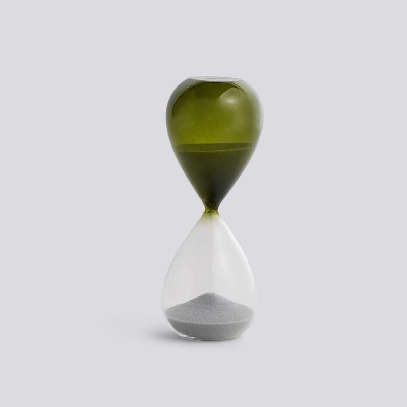 HAY Time Timeglas 15 Minutter Græsgrøn M