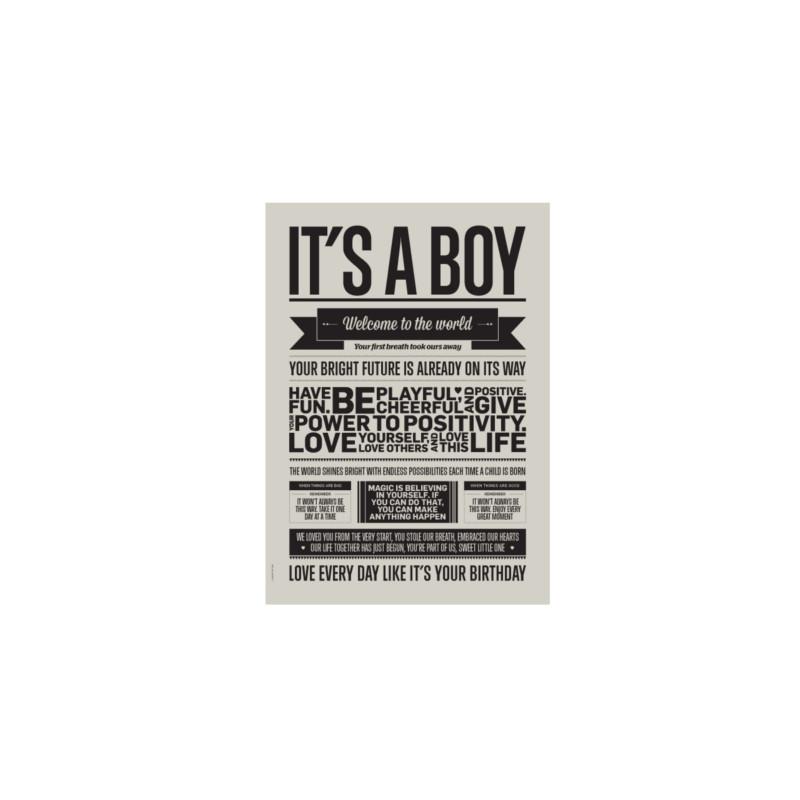 I Love My Type Kort It's A Boy