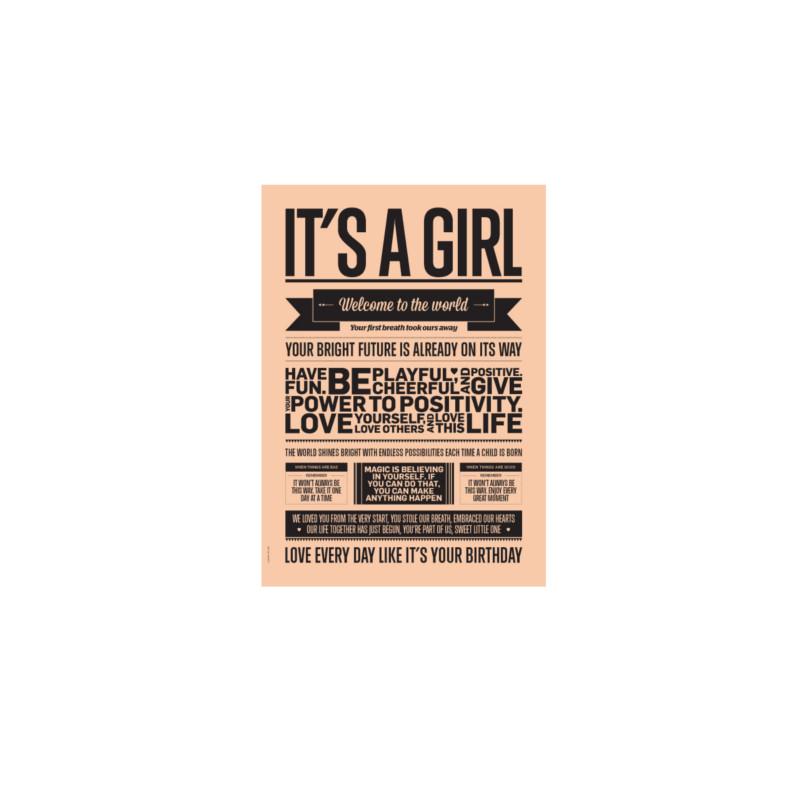 I Love My Type Kort It's A Girl