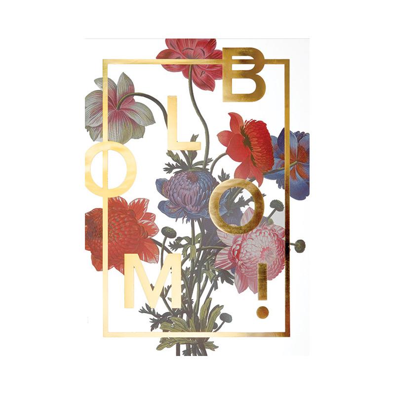 I Love My Type Plakat Bloom! Gold