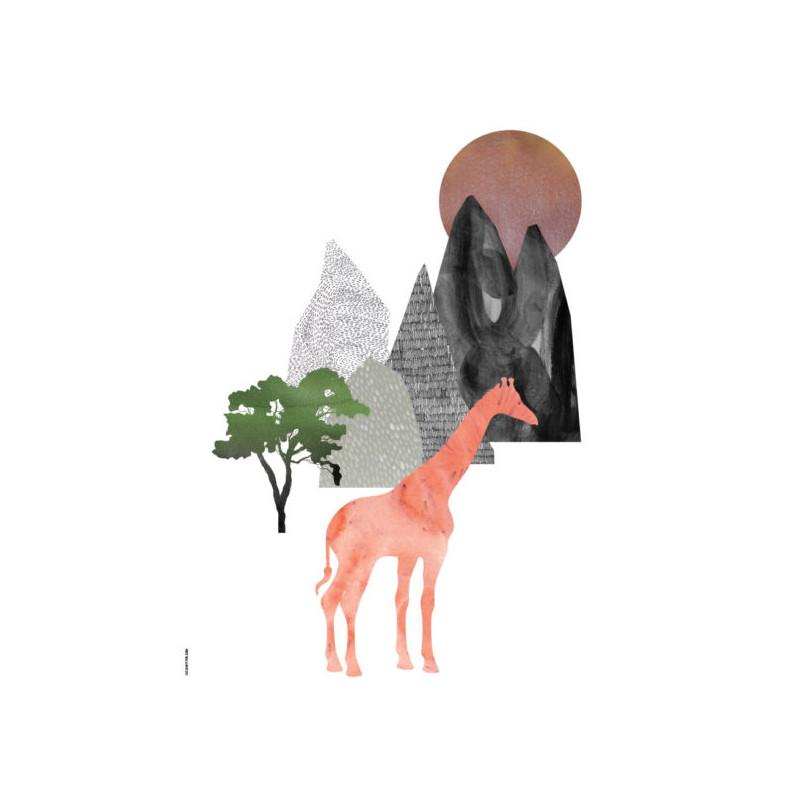 I Love My Type Plakat Giraf White