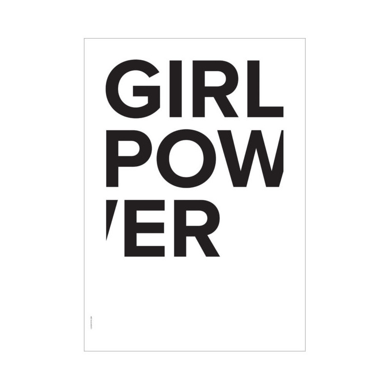 I Love My Type Plakat Girl Power Hvid