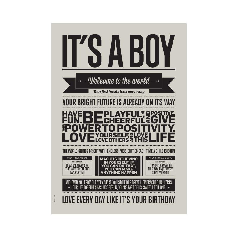 I Love My Type Plakat It's A Boy