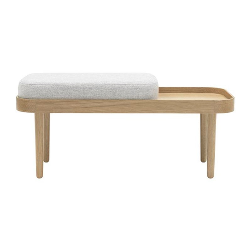 By Klip Klap KK Bench Frame Eg  Cushion Light Grey Melange