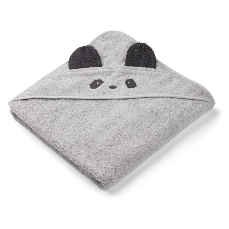 Liewood Augusta Håndklæde Panda Dumbo Grå