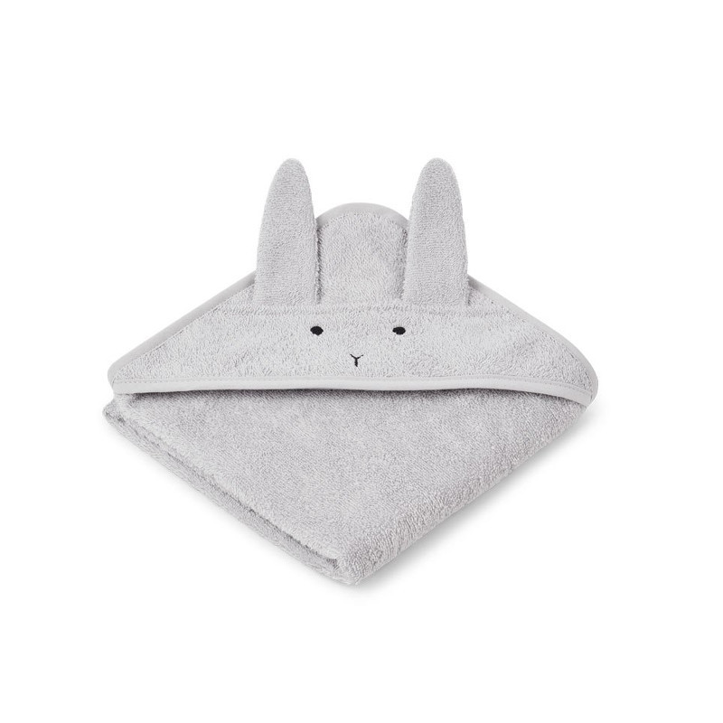 Liewood Håndklæde Kanin Grå Baby