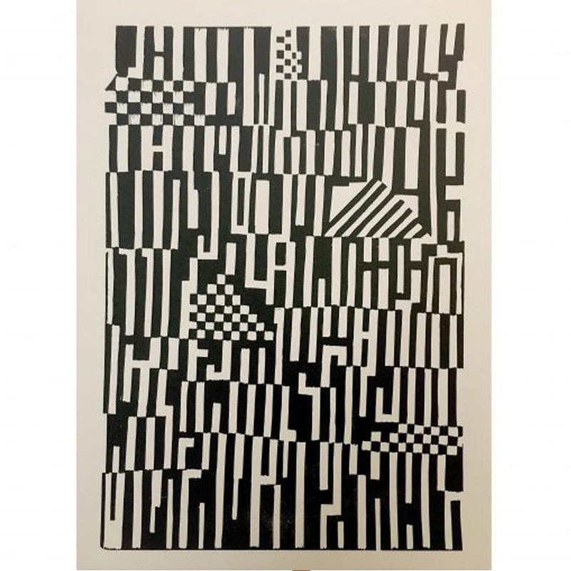 Monika Petersen Poster Print Pattern Sort/Creme 50x70
