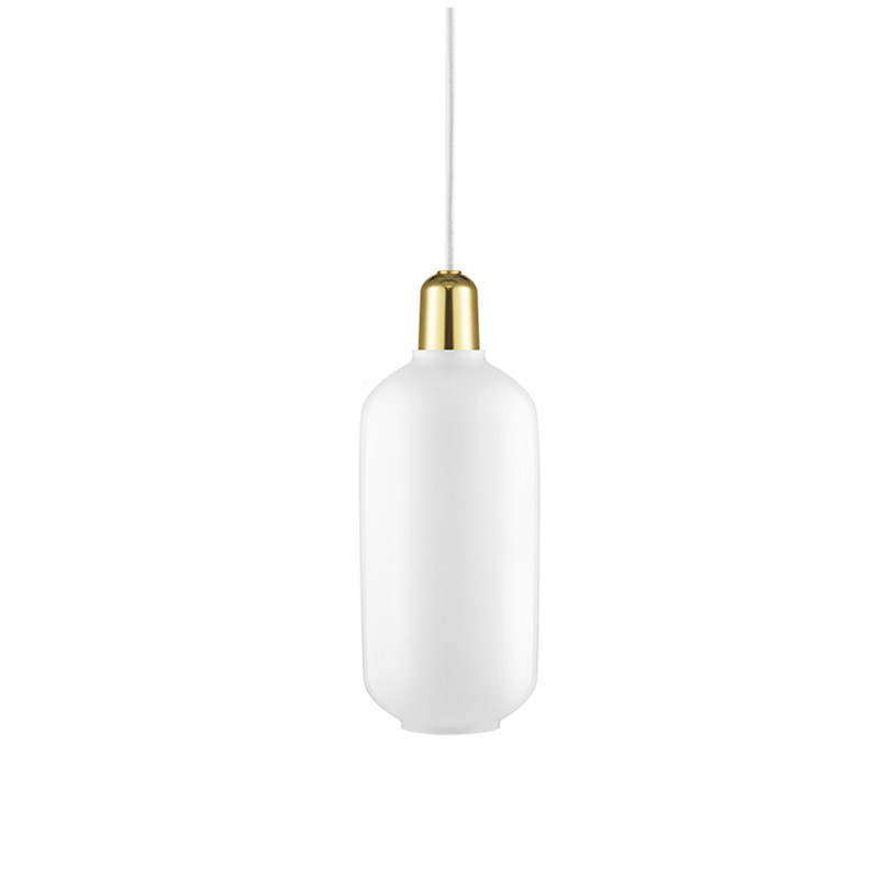 Normann Copenhagen Amp Lamp Stor, Hvid/messing
