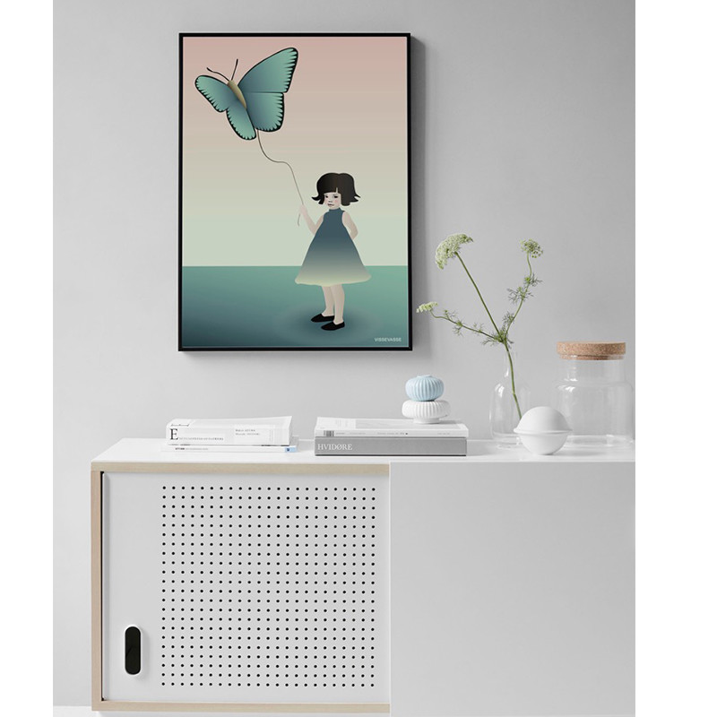 Vissevasse plakat Pigen med sommerfuglen