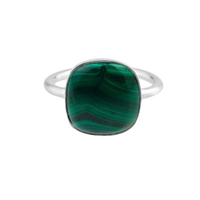 Pernille Corydon Malachite Ring Justerbar Sølv