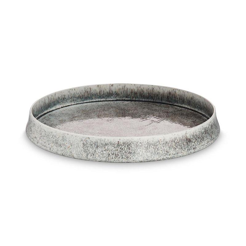 H Skjalm P. Bergen fad sort/grå keramik