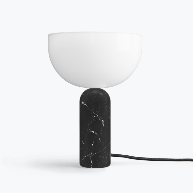 New Works Kizu Bordlampe Sort Marmor Small