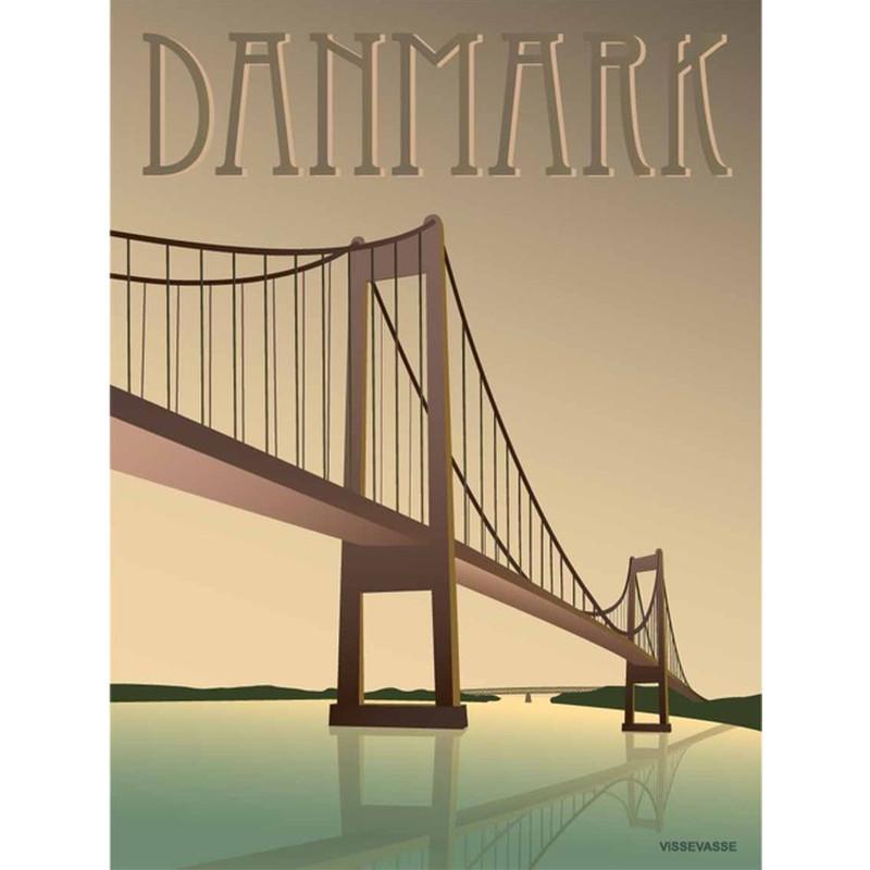 Vissevasse Danmark Lillebæltsbroen Plakat