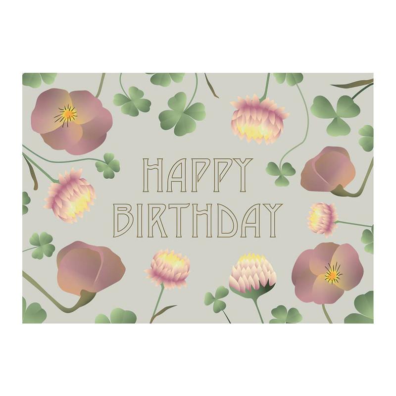 Vissevasse Kort Happy Birthday A6