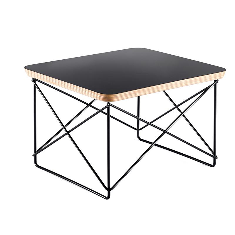 Vitra LTR Occasional Table, sort laminat, sort stel