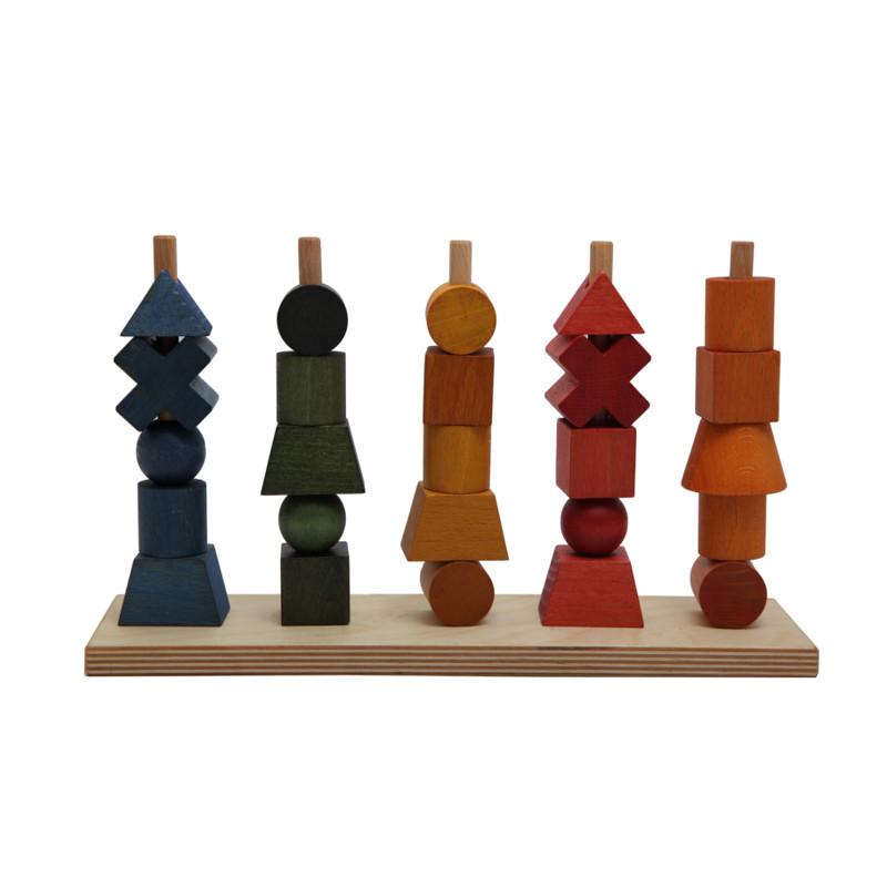 Wooden Story Stablelegetøj - Regnbue