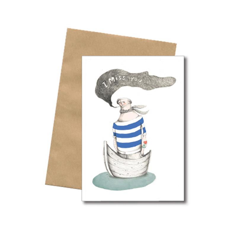 Bob Noon I Miss You Postkort