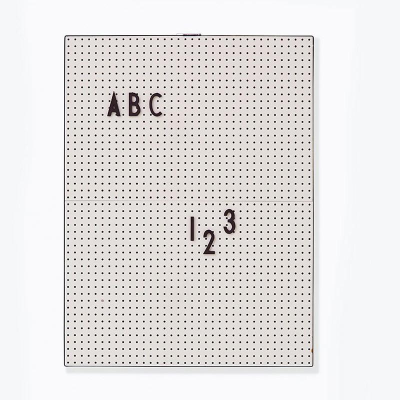 Design Letters Message Board opslagstavle A4 grå