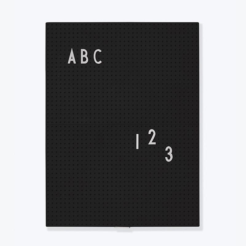 Design Letters Message Board opslagstavle Sort
