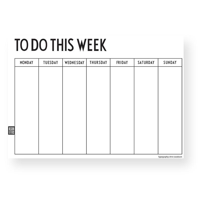 Design Letters Uge Kalender
