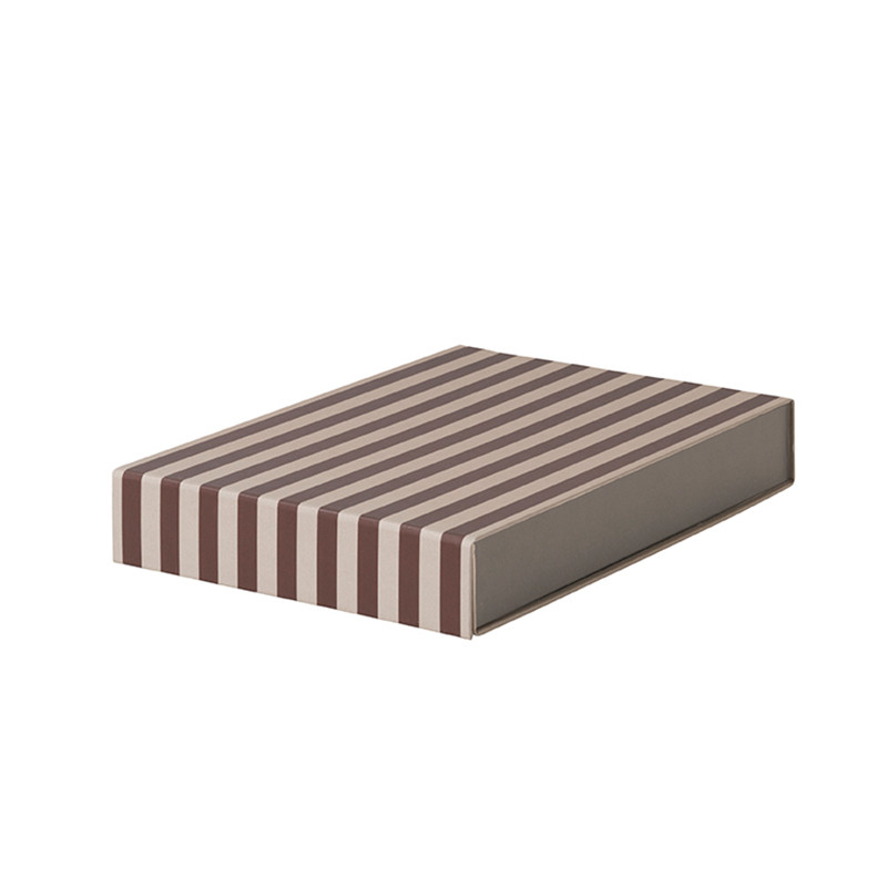 Ferm Living Striped Box - Rectangle Bordeaux