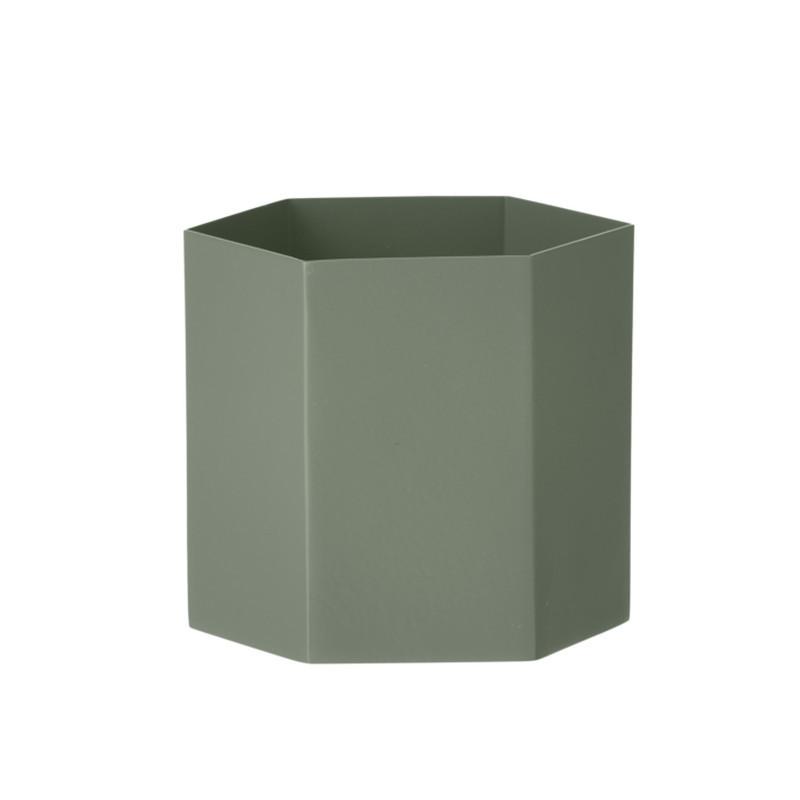 Ferm Living Hexagon Pot Dusty Green