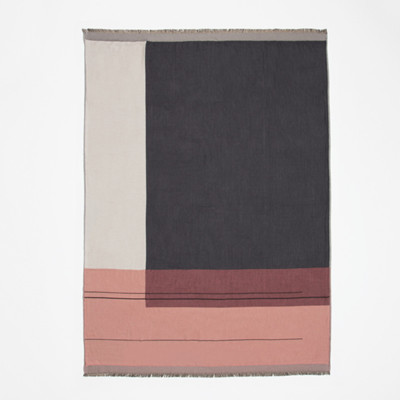 Ferm Living Plaid Colour Block Rosa