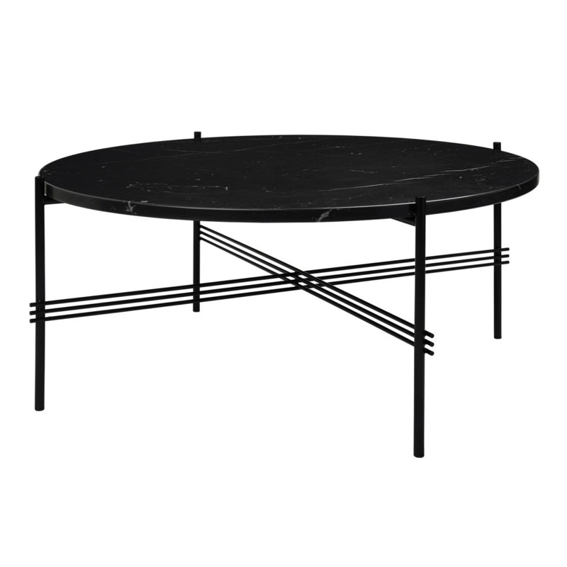 Gubi Gamfratesi TS Lounge Table Marmor Sort-Sort Stor