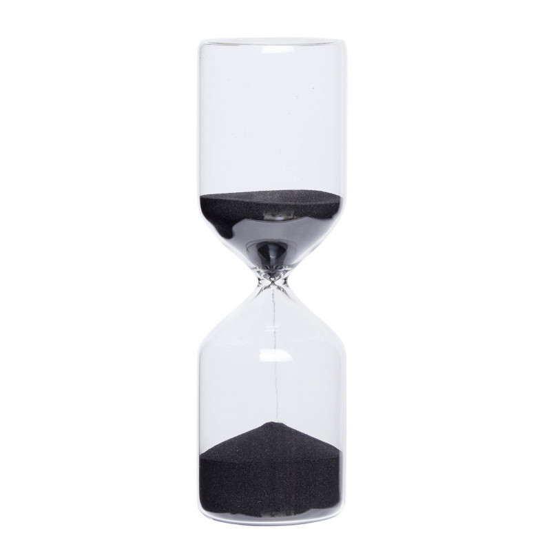 Hübsch Timeglas Sort Stor
