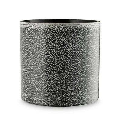 H. Skjalm P. Urtepotteskjuler Keramik Siena Sort-Hvid