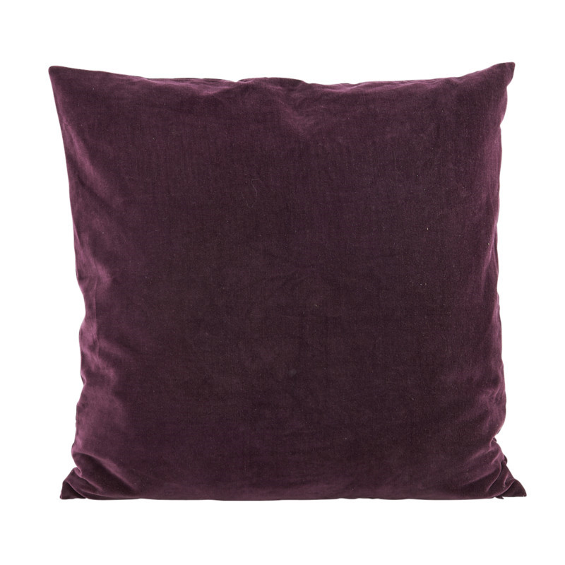 House Doctor Pude Velv Aubergine 50x50