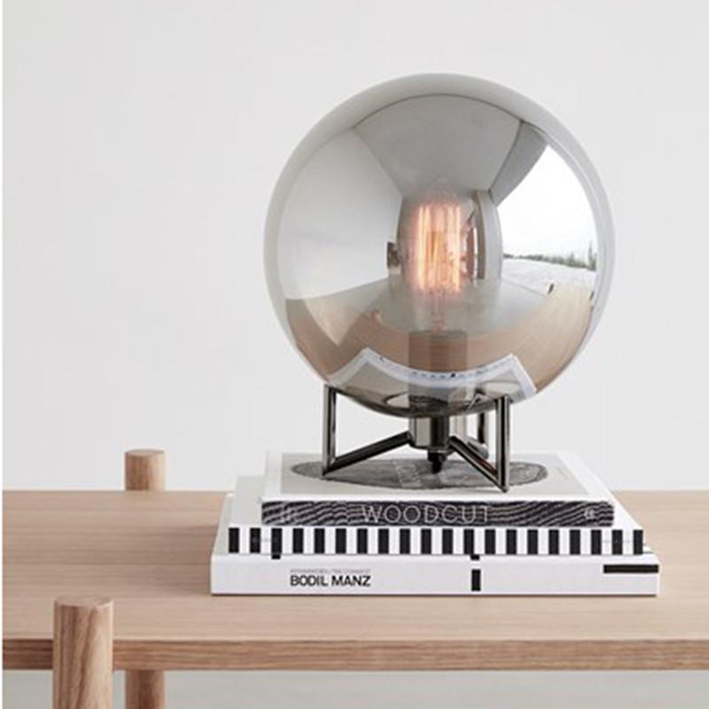Hübsch Bordlampe metal glas
