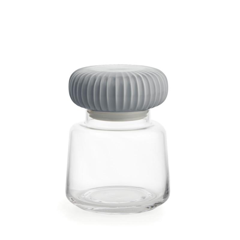 Kähler Hammershøi Opbevaringsglas Marmorgrå Lille