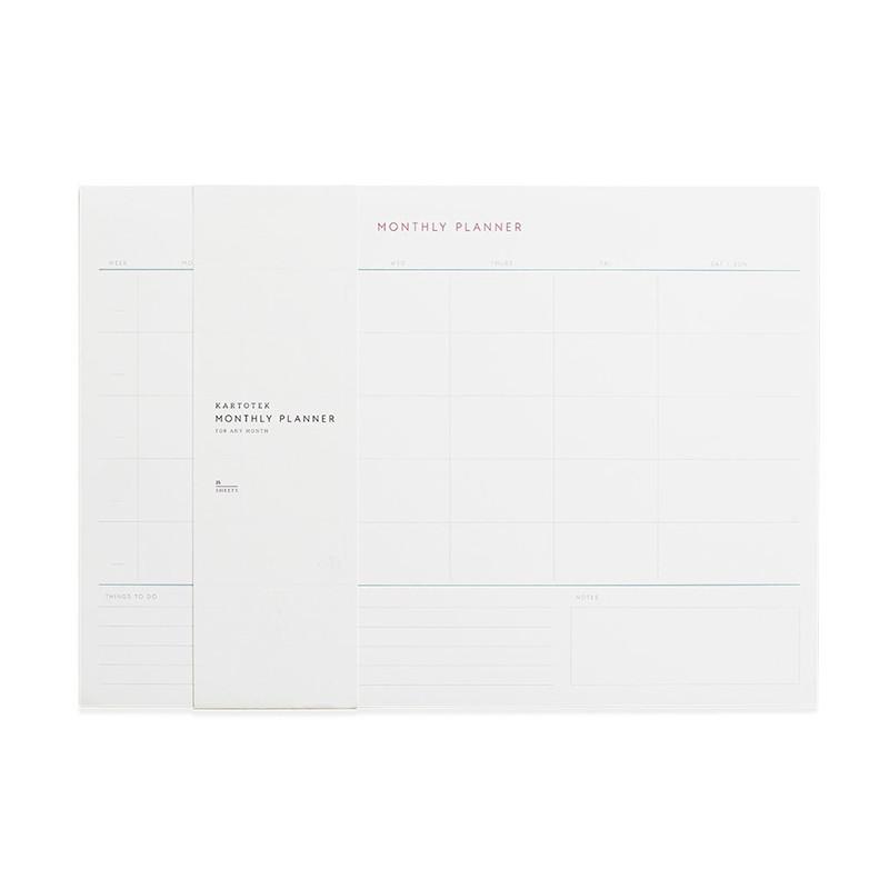 Kartotek Monthly Planner notesbog A4