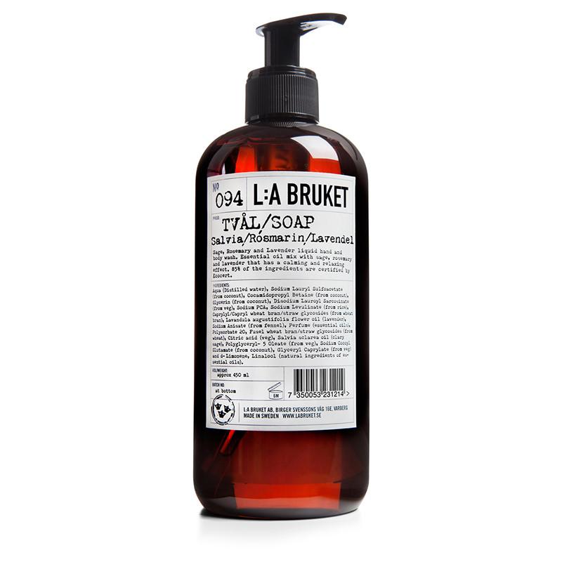 LA Bruket Håndsæbe-Bodywash Salvia/rosmarin/lavendel 250 ml
